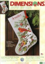 Dimensions 08738 - Early snow cardinals stocking