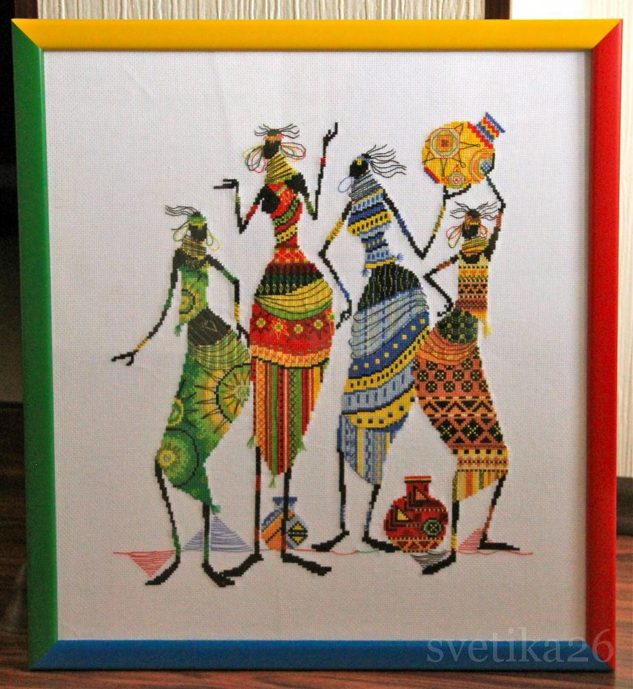 Производитель:Panna Номер:НМ-739 Описание:Африканочки-подружки, 43х38, аида 14, счетный крест.