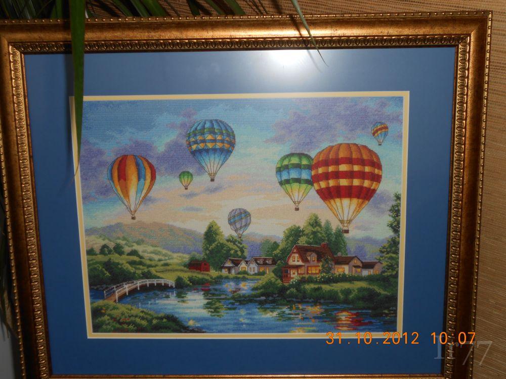 Комментарий: Набор для вышивания Dimensions 35213 Парад шаров 41х30 48 цветов.