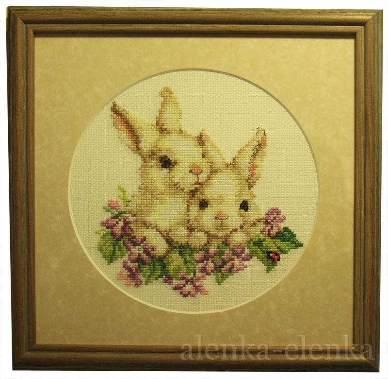 Алиса кролики вышивка 183