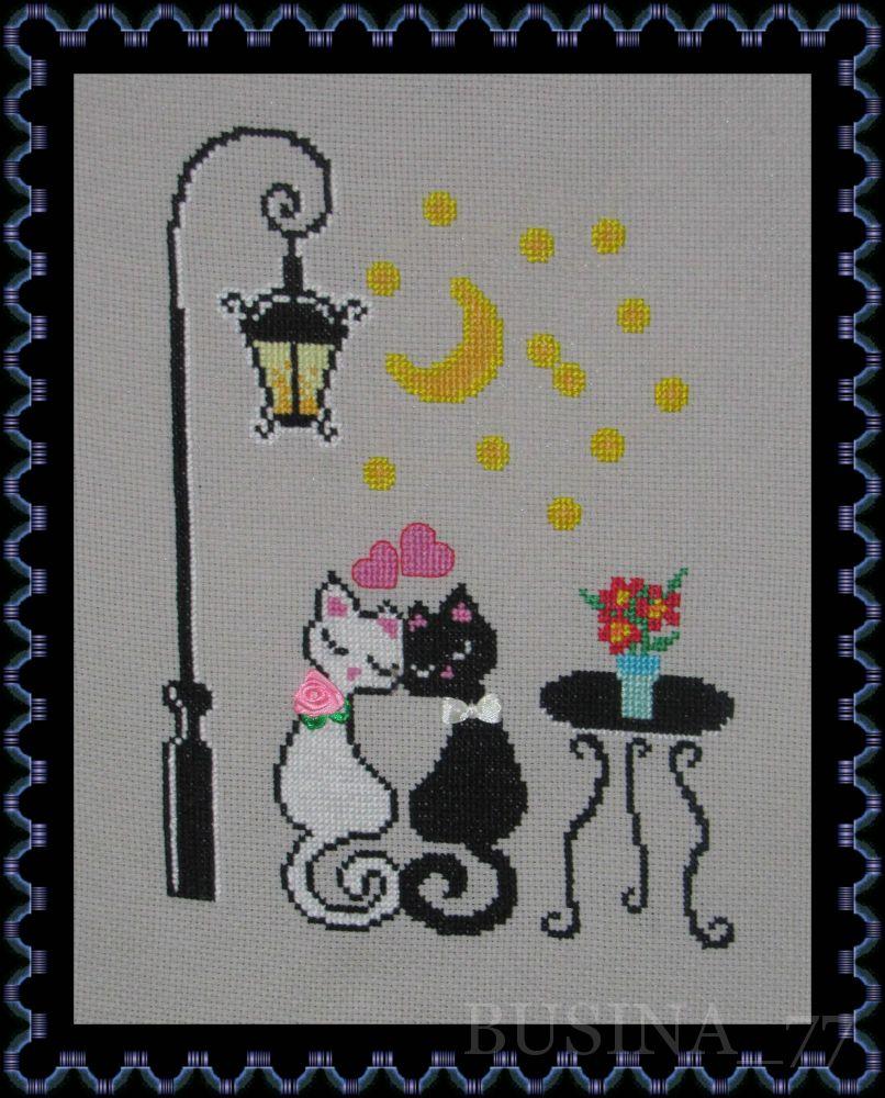 Влюбленные коты вышивка крестом - сериал психопаспорт 1 сезо.