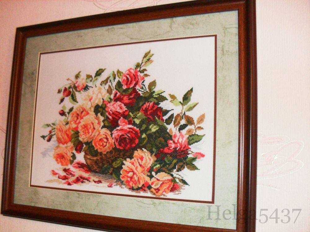 Вышивка крестом розы от алисы 181