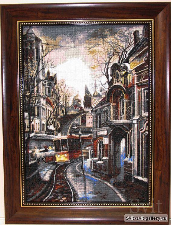 Вышивка ночной трамвай 79