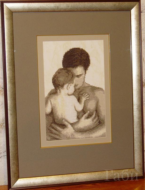 Вышивки папы с ребенком