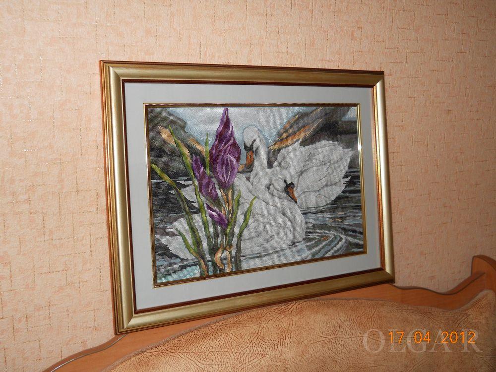 Схема вышивки белые лебеди золотое руно