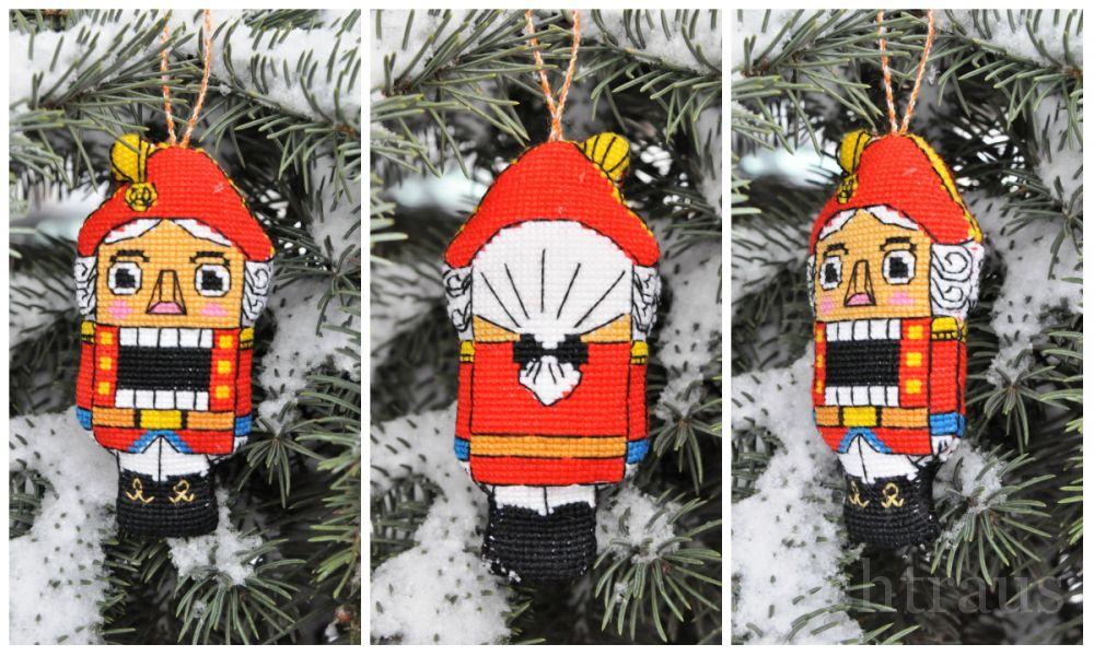 Большая новогодняя игрушка на елку своими руками щелкунчик