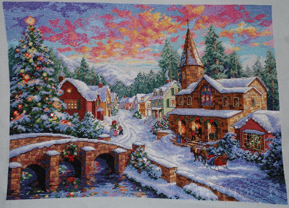 Вышивка дименшенс праздничная деревня