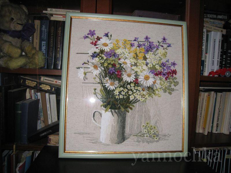 Полевые цветы вышивка готовых работ