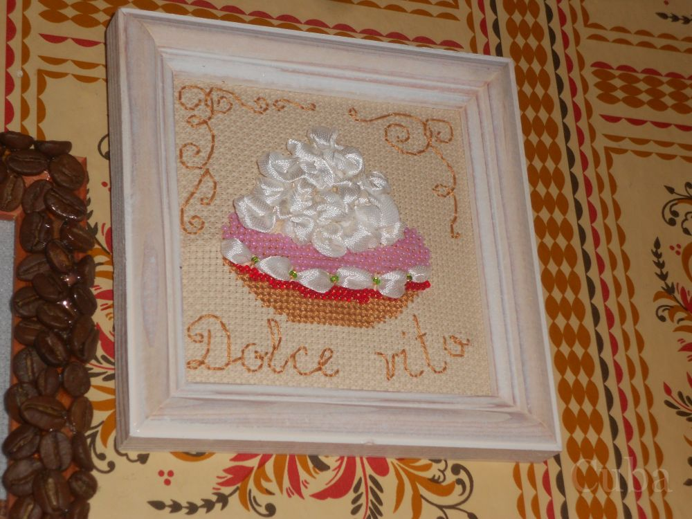 Вышивка пирожные риолис 19