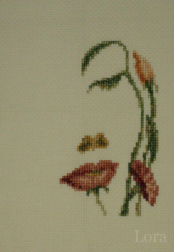 Схемы вышивки цветов бисером.