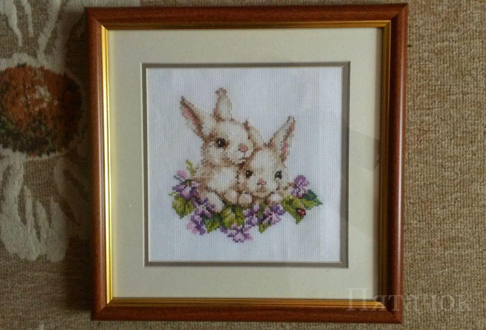 Алиса кролики вышивка 57