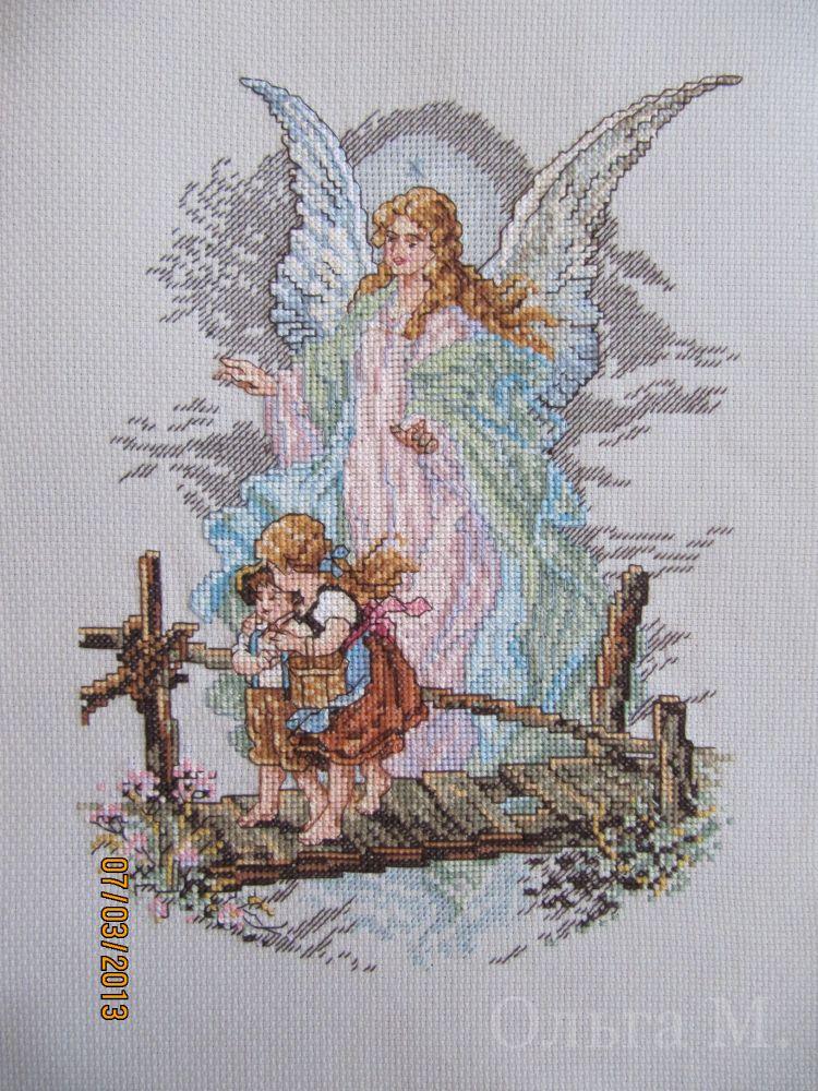 Схема вышивка с ангелом хранителем 73