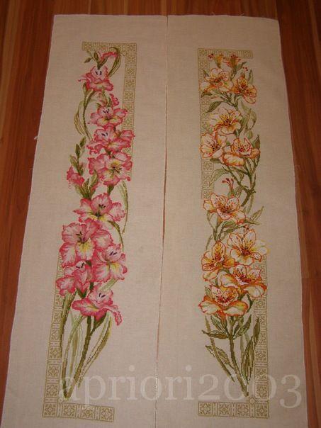 """Набор для вышивания Риолис (Сотвори Сама) 938 - сравнить цены.  Комментарий: Вышивка по наборам Риолис  """"Гладиолусы """" и..."""