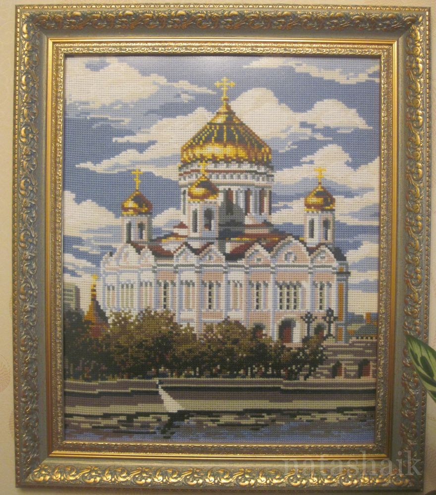 Вышивка риолис храм христа спасителя 57