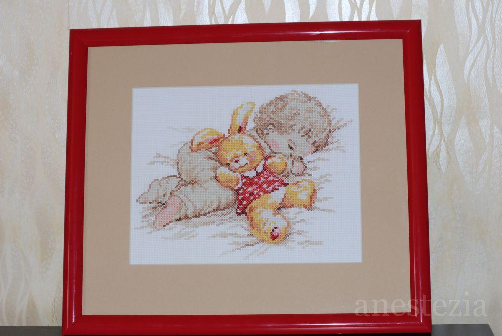 """Комментарий: Производитель: Алиса; набор -  """"Дочурка """".  Самая первая моя работы, вышивалась легко и приятно для..."""