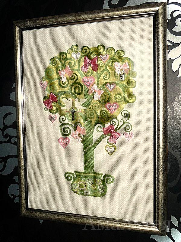Комментарий: Дерево счастья фирмы Riolis.  Удивительно нежное, трогательное, весеннее.