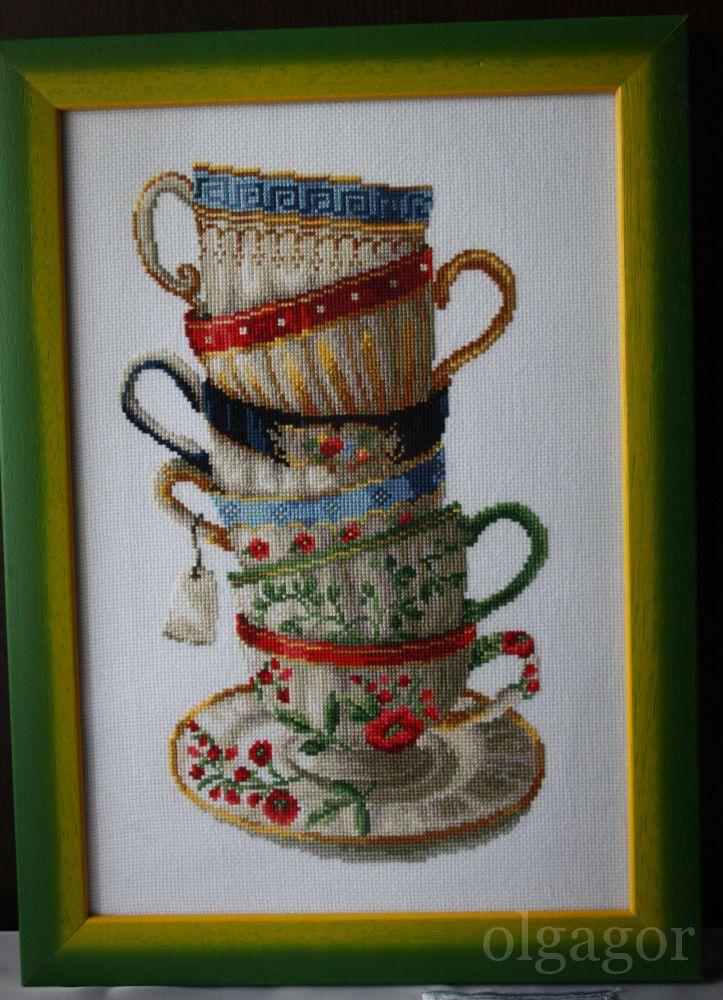 Схема вышивки чашка 15