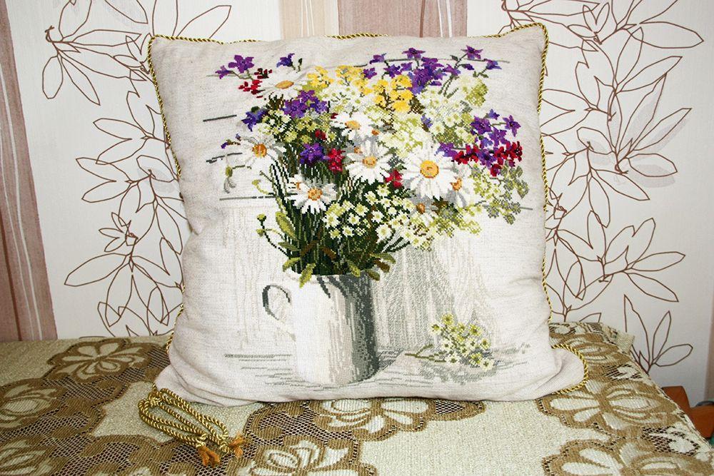 Полевые цветы вышивка от риолис