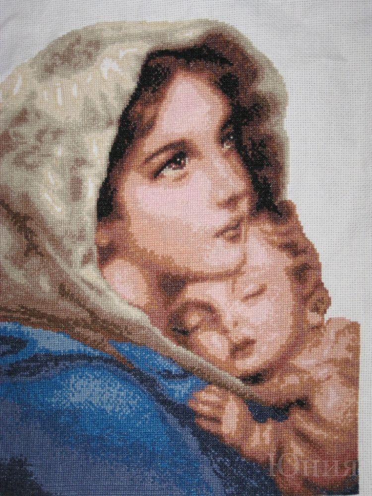 Вышивка крестом мария с младенцем 95