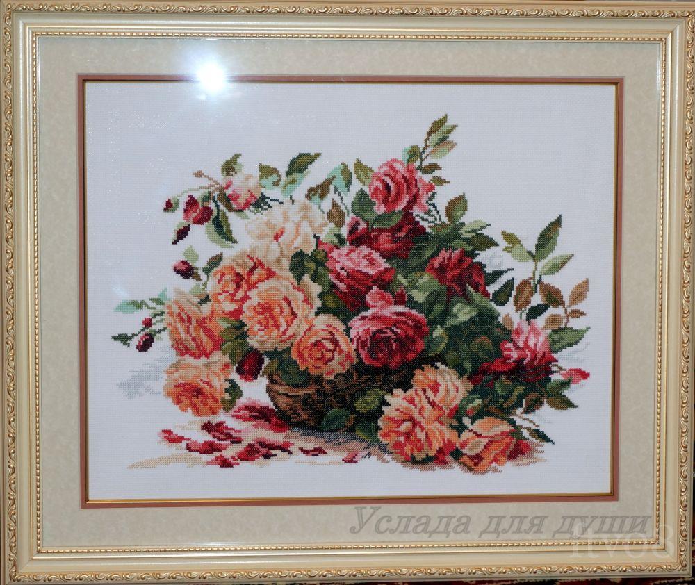 Вышивка крестом розы в корзине алиса 37