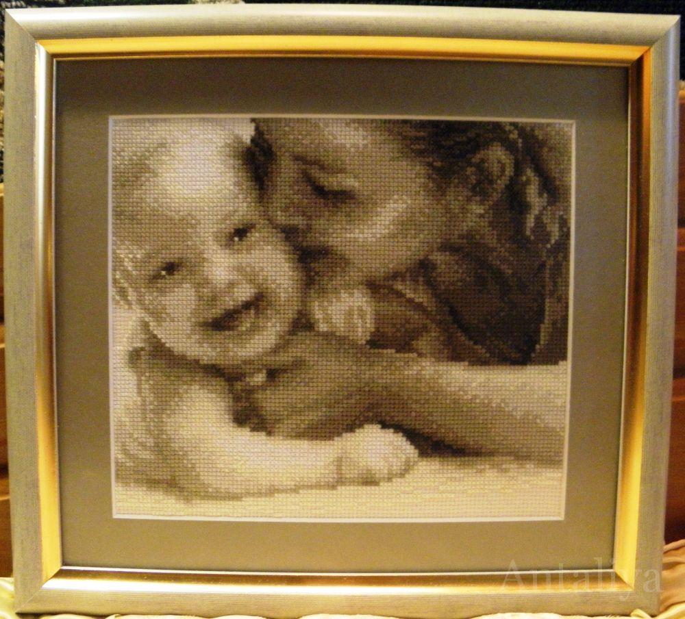 Вышивка поцелуй мамы 12