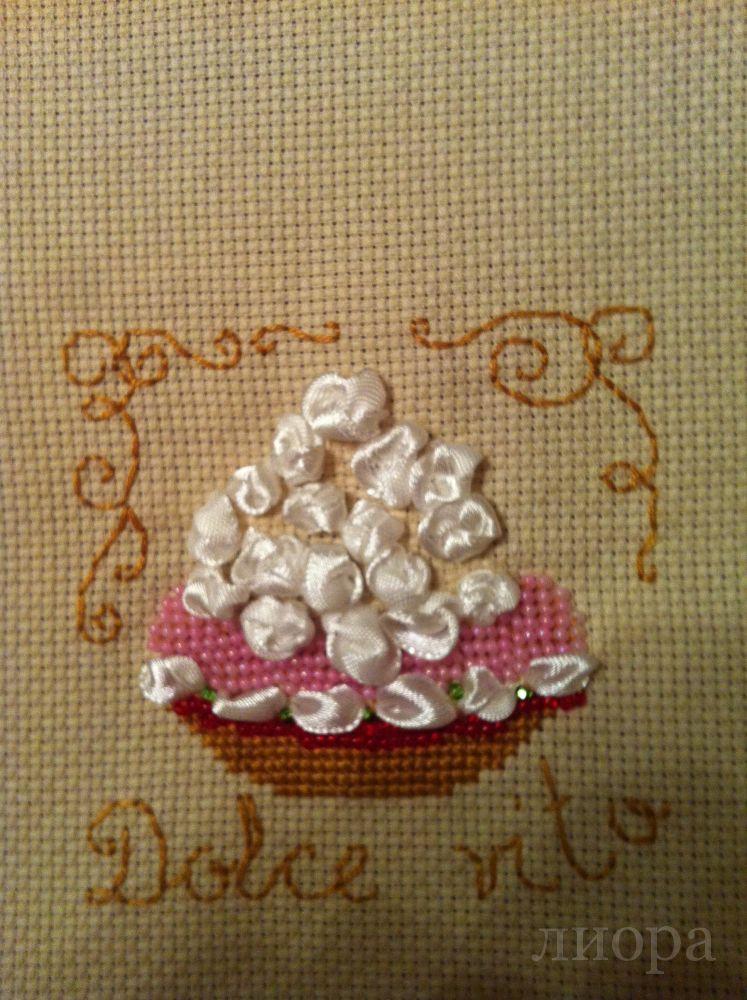 Вышивка пирожные риолис 8