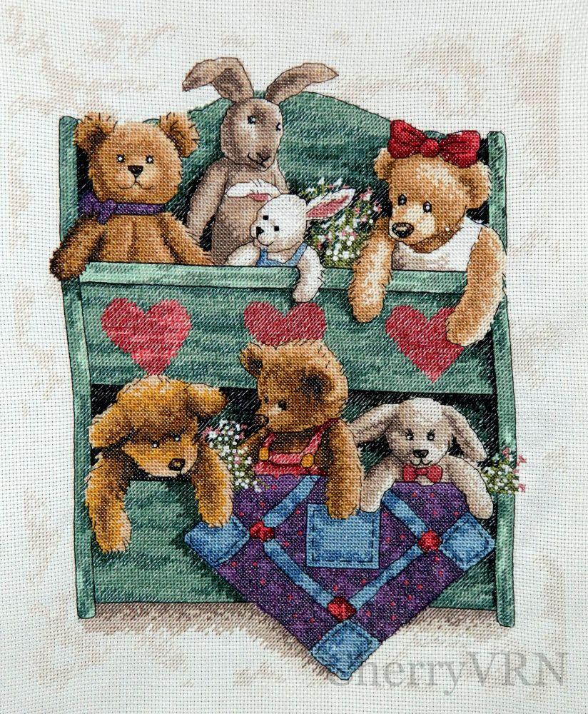 13684 animal shelf схема вышивки 96