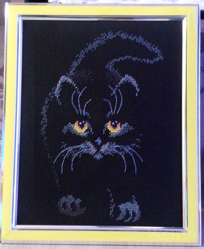 Вышивки схемы на черной канве 98