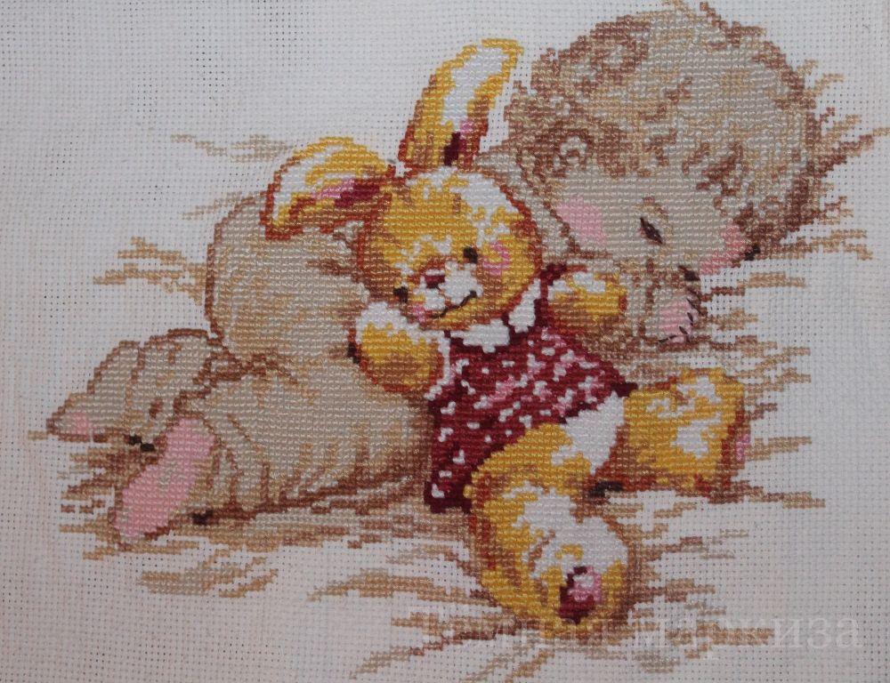 """Комментарий: Набор Алиса 4-06  """"Дочурка """".  Очень понравилось работать с данной вышивкой - и схема чудесная..."""