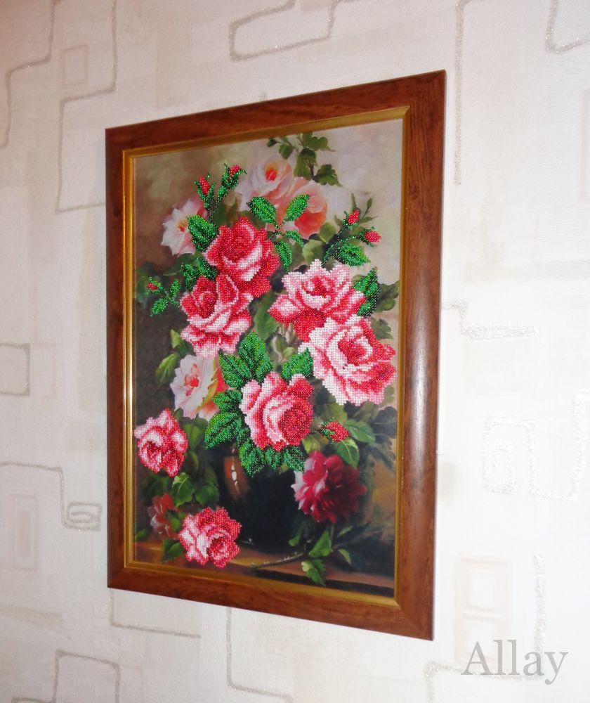 Вышивка розовая элегия 98