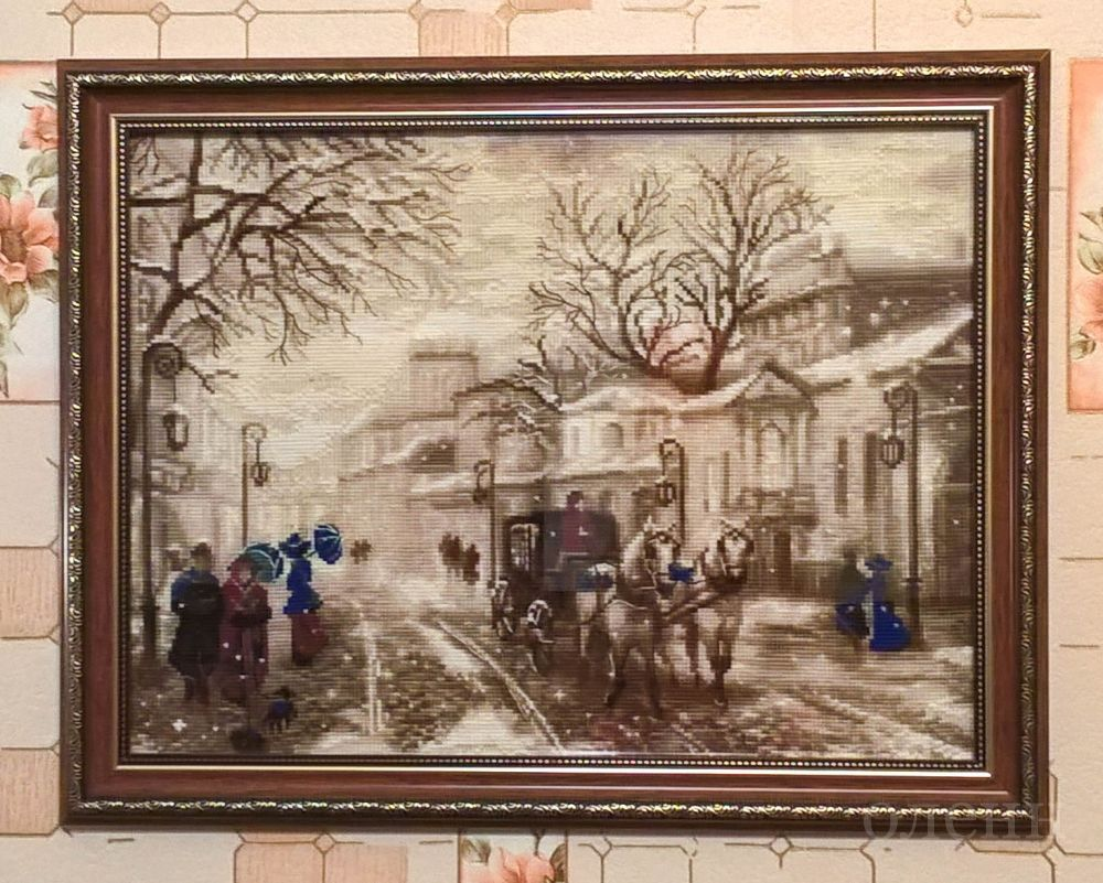 """Купить вышивку """"Старая улочка"""" (арт. 1400) от """"Риолис&quot"""