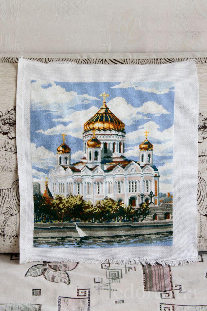Вышивка риолис храм христа спасителя 16