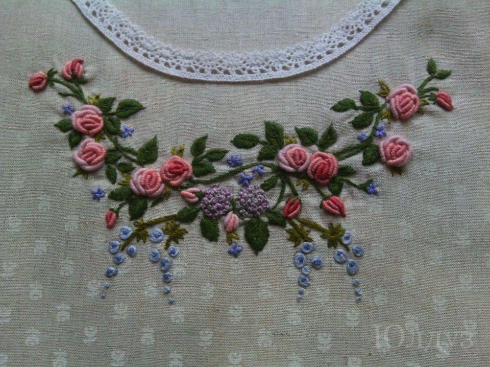 Вышивка рококо с фото 780