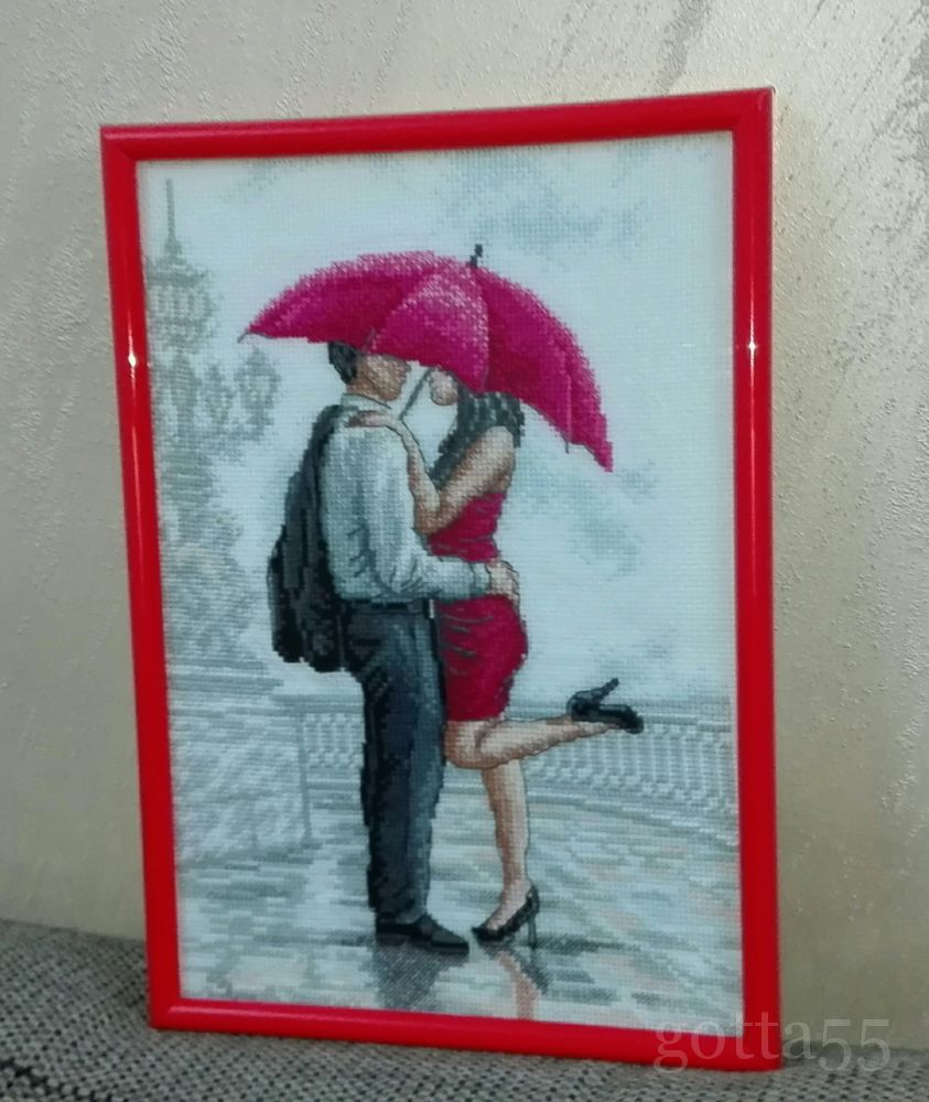 Вышивка дождь для двоих 885