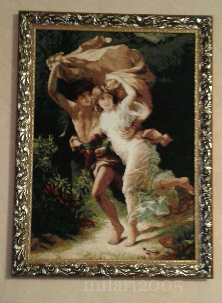 Набор вышивки гроза и дети