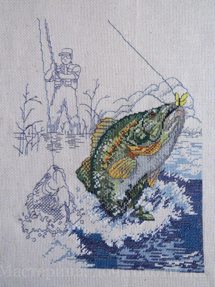 Вышивка крестом схема рыб