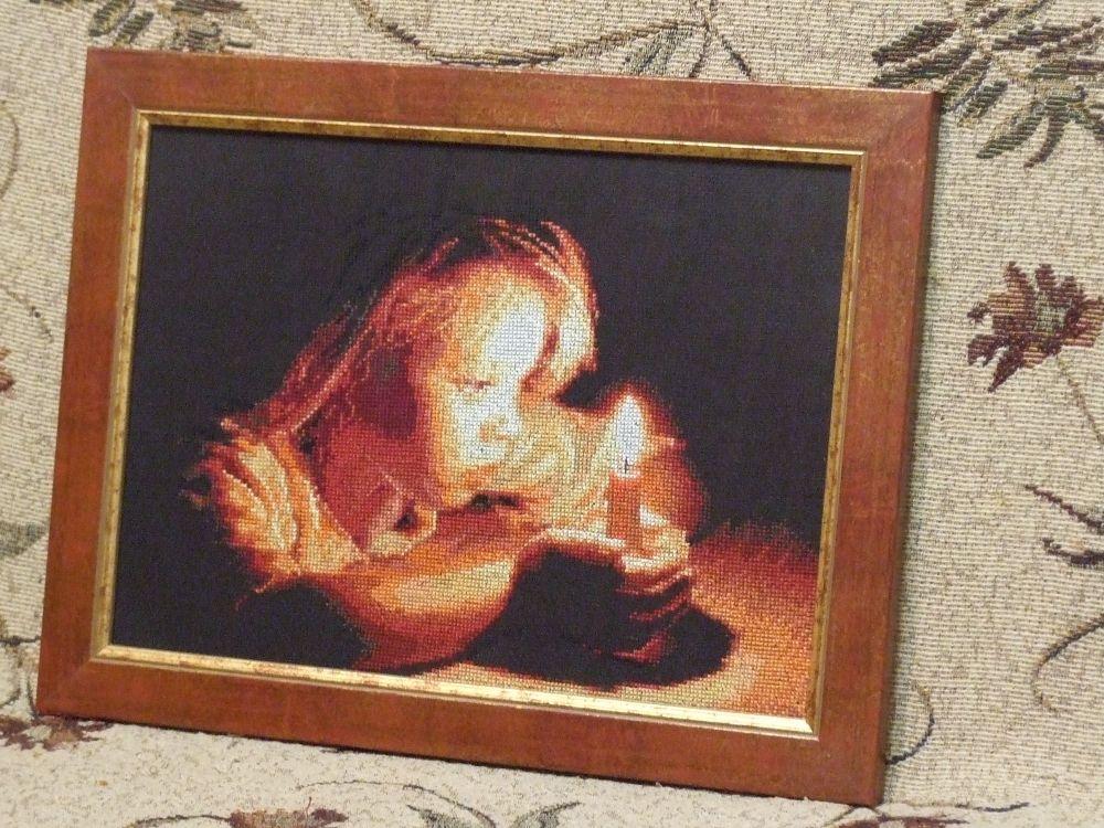 Девушка со свечой схема вышивки 18