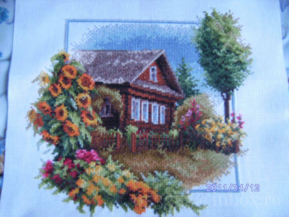 Моя деревня вышивка лето 23