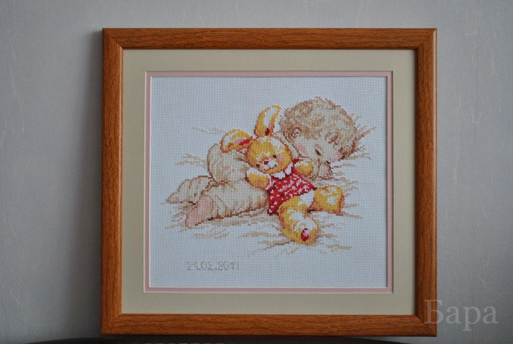 """Комментарий: Набор для вышивания фирма  """"Алиса """" 4-06 Дочурка.  Подарила друзьям на рождение доченьки в комплекте с..."""