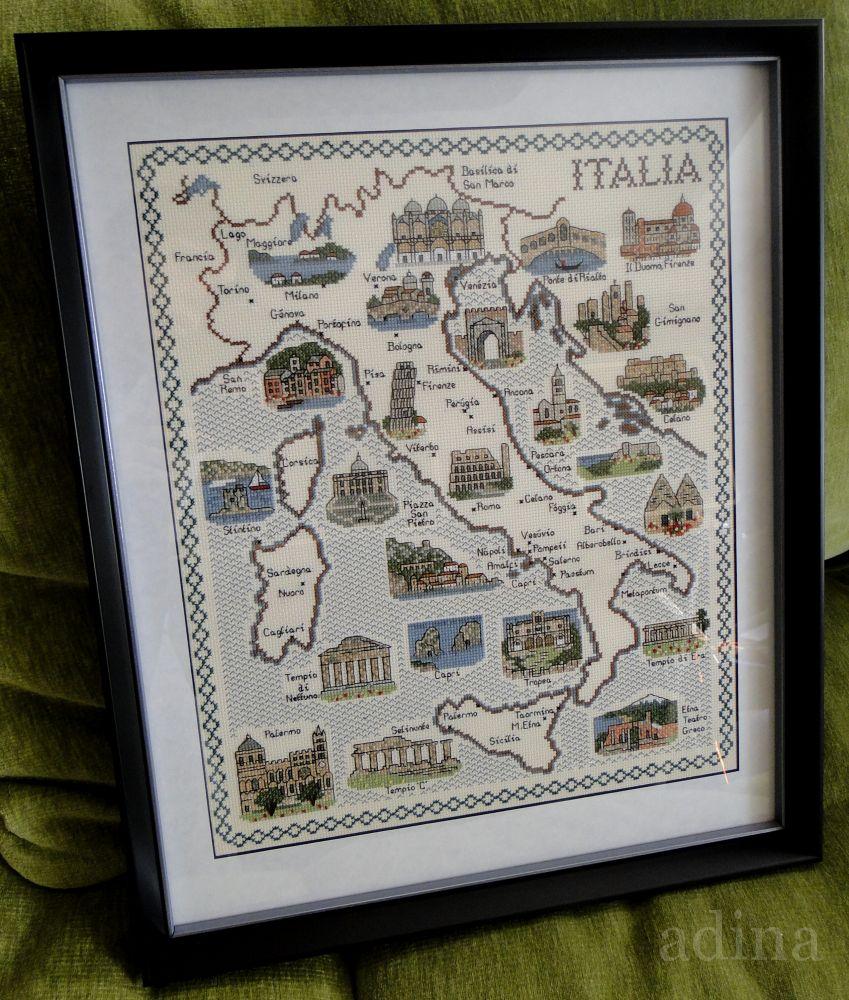 Вышивка и схемы из италии