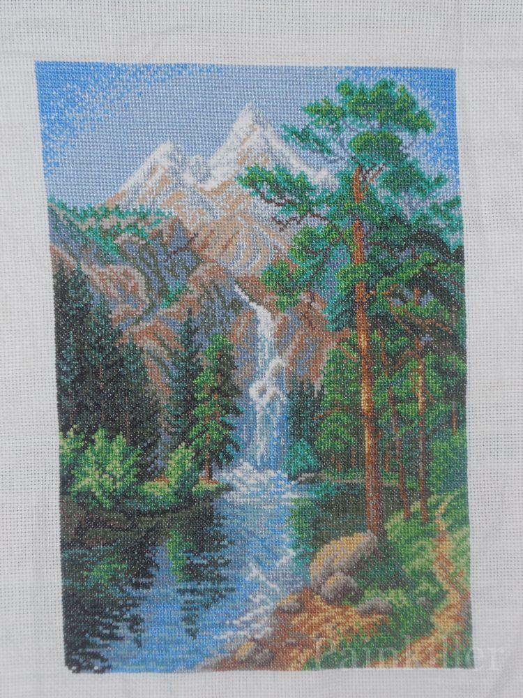 Вышивка крестом водопад искусница