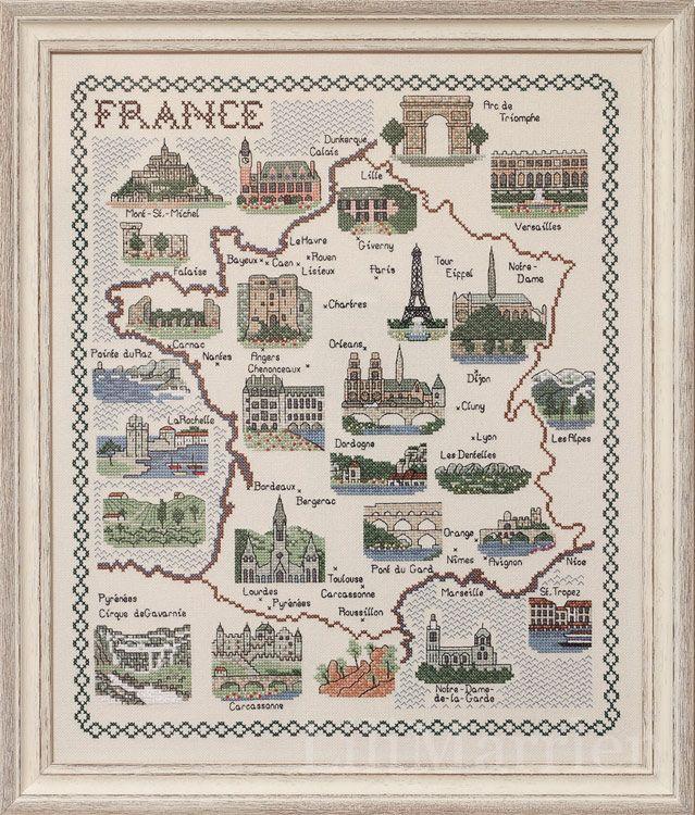 Схемы вышивок крестом франция