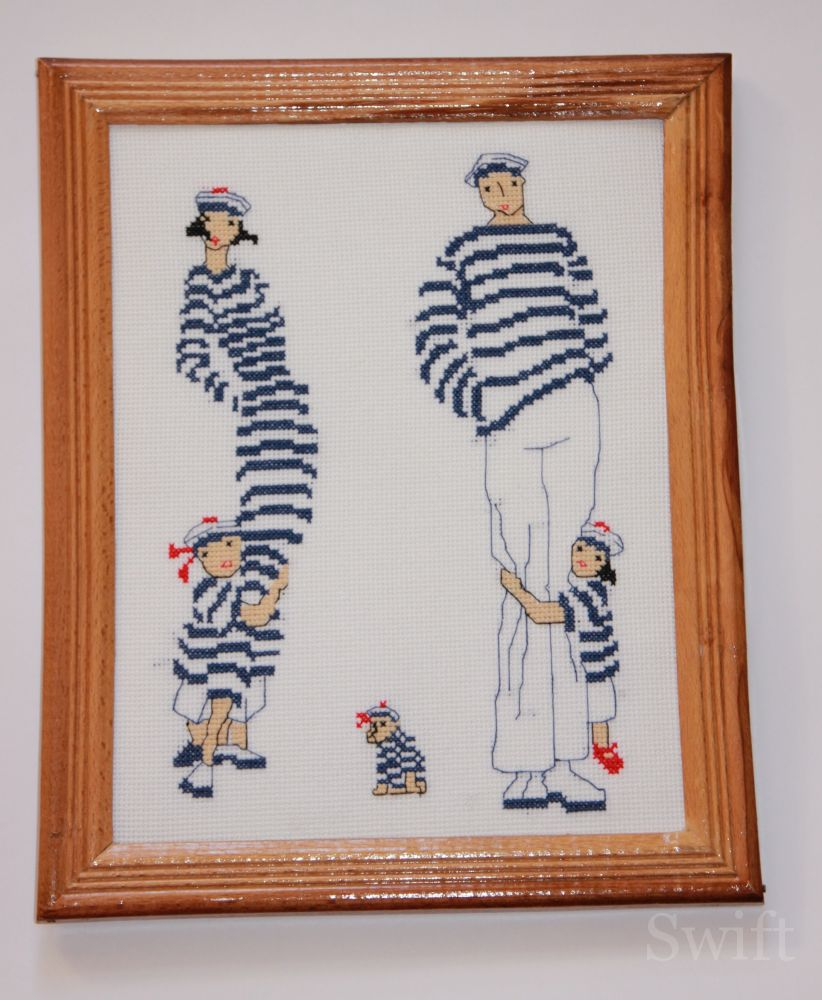 Схема вышивки морячка 5