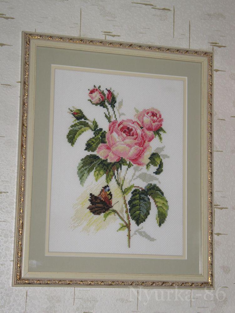 Вышивка крестом розы от алисы 29