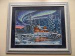 Северное сияние (Aurora Cabin) от Dimensions. Вышивать было не...