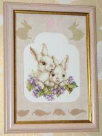 Алиса кролики вышивка 164