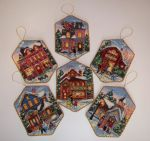 Dimensions 08785 Christmas Village Ornaments