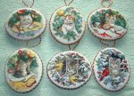 "Dimensions №8730 ""Kitty Keepsake Ornaments"" - набор. Ёлочные..."