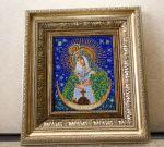 Икона богородица Осторобрамская. Радуга бисера....